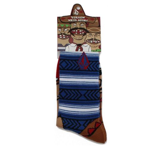 Volcom Men's Socks - Bandito Sock Puppets (Blue)
