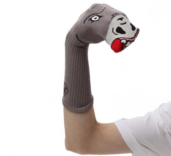 Volcom Men's Socks - Bandito Sock Puppets (Brown)