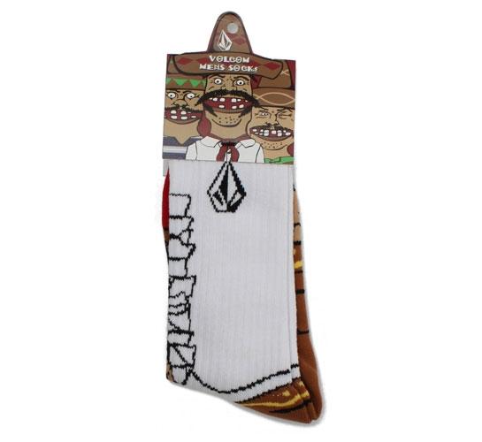 Volcom Men's Socks - Bandito Sock Puppets (White)