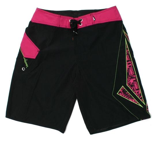 Volcom Men's Shorts - Foster 2 Solid Mod (Black/Pink)