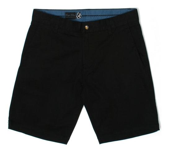 Volcom Men's Shorts - Frickin Slim Chino Short (Black)