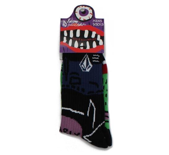 Volcom Men's Socks - Ozzie Wright Sock Puppets (Green)