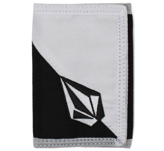 Volcom Wallet - Full Stone 3F Cloth Wallet (White/Black)