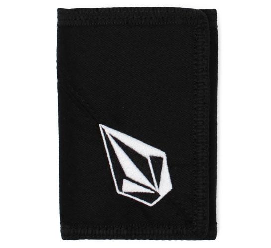 Volcom Wallet - Full Stone 3F Cloth Wallet (Black)