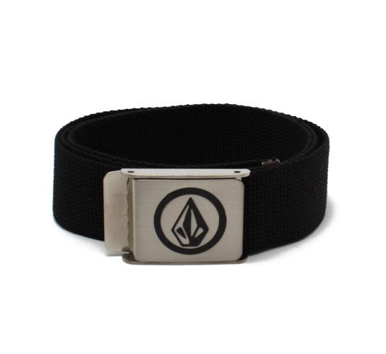 Volcom Men's Belt - Volcom Circle Stone Web Belt (Black)