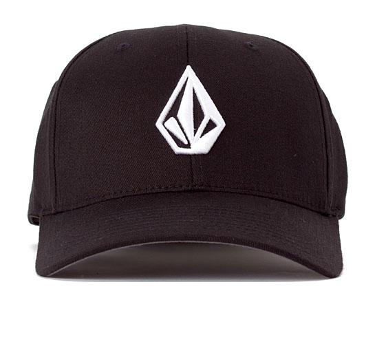 Volcom The Stone 6277 Flexfit Cap (Black/White)