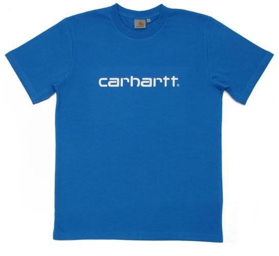 Carhartt Men's T-Shirt - S/S Script T-Shirt (Reef/White)