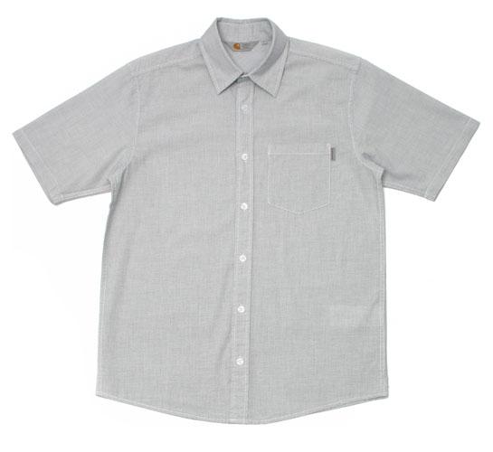 Carhartt Men's Shirt - S/S Maywood Shirt (Black/White)
