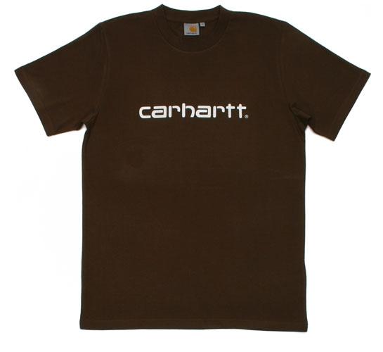 Carhartt Men's T-Shirt - S/S Script T-Shirt (Choco/White)