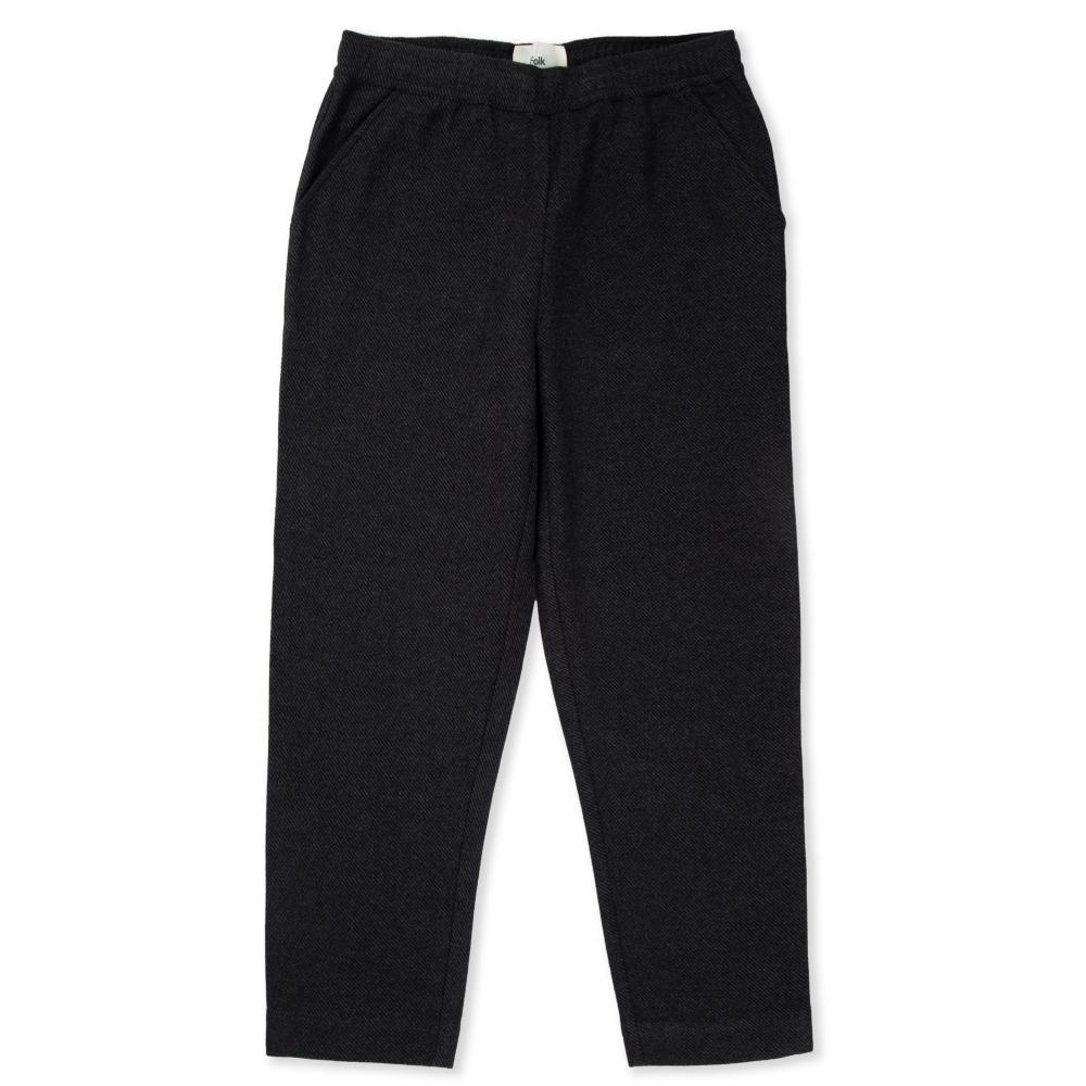 Women's Folk Drawcord Signal Pant (Charcoal Twill Wool)