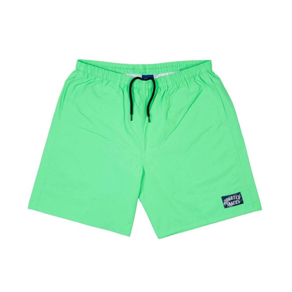 Quartersnacks Water Shorts (Neon Lime)