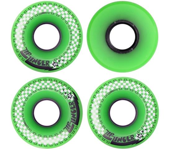Zip Zinger 55mm Skateboard Wheels (Green)