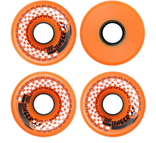 Zip Zinger 65mm Skateboard Wheels (Orange)
