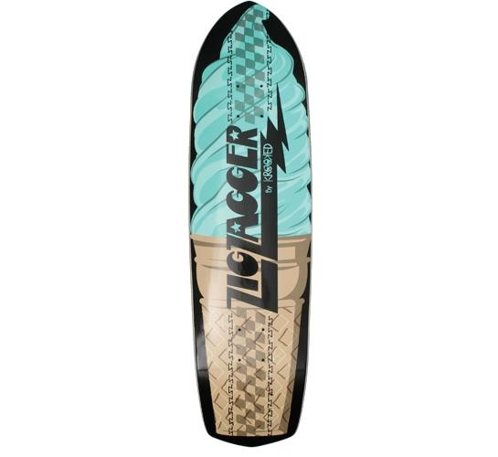 "Zip Zagger Skateboard Deck - 8.6"" (Ice Cream)"
