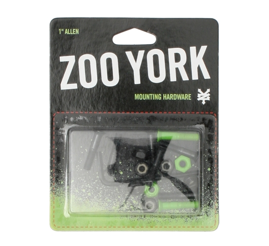 "Zoo York Skateboard Bolts - 7/8"" Allen (Green)"