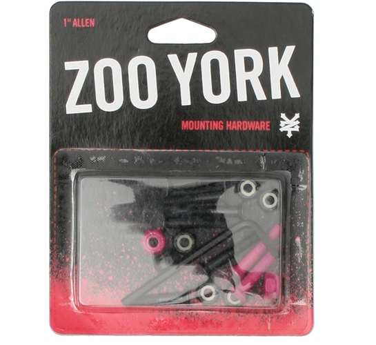 "Zoo York Skateboard Bolts - 1"" Allen (Pink)"