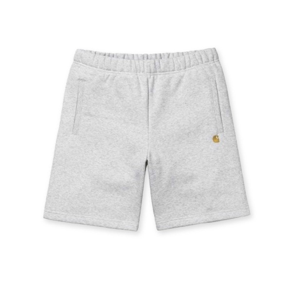 Carhartt WIP Chase Sweat Short (Ash Heather/Gold)