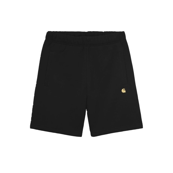 Carhartt WIP Chase Sweat Short (Black/Gold)