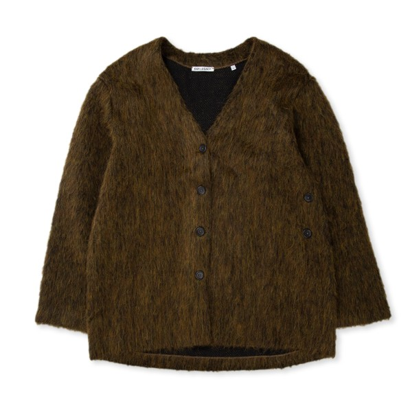 Women's Our Legacy Mid Line Cardigan (Olive Melange Mohair)