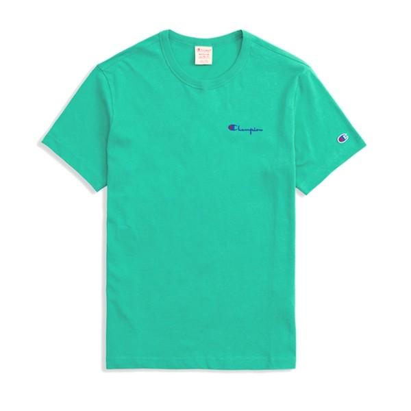 Champion Reverse Weave Small Script Crew Neck T-Shirt (Green)