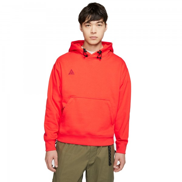Nike ACG Pullover Hooded Sweatshirt (Habanero Red/Noble Red)