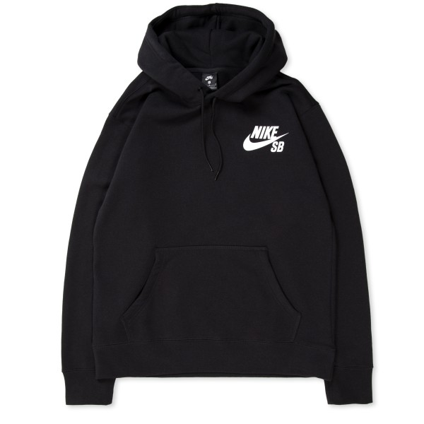 Nike SB Icon Pullover Hooded Sweatshirt (Black/White)