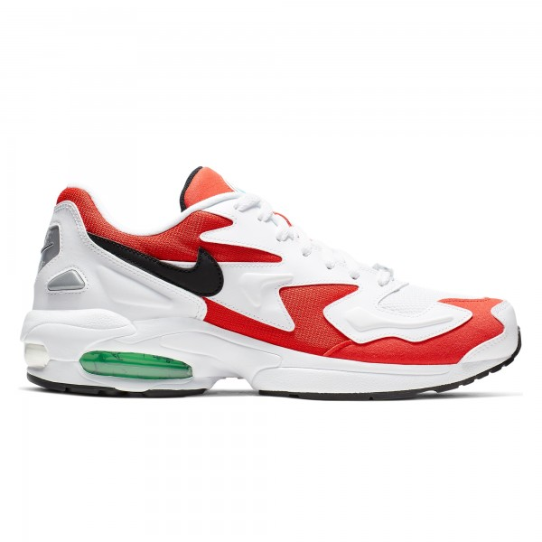 Nike Air Max2 Light 'Habanero Red' (White/Black-Habanero Red-Cool Grey)