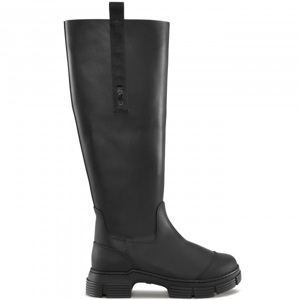 GANNI Recycled Rubber Country Boot (Black)