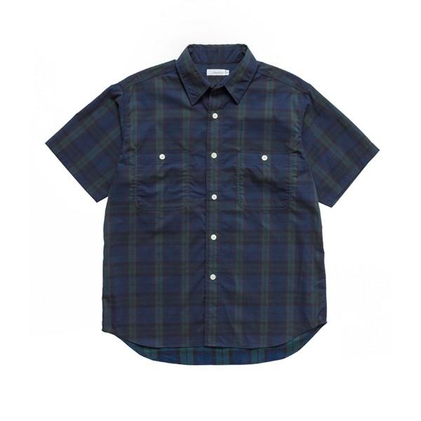 nanamica H/S Check Wind Shirt (Black Watch)