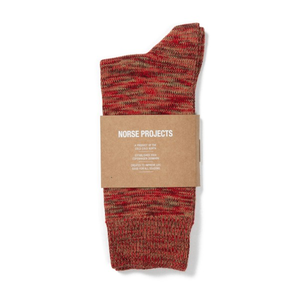 Norse Projects Bjarki Blend Socks (Cabin Red)