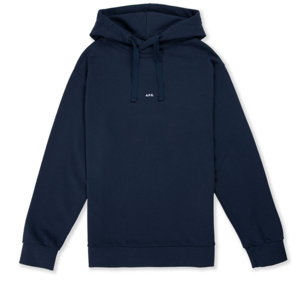 A.P.C. Larry Pullover Hooded Sweatshirt (Dark Navy)