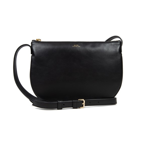 Women's A.P.C Maelys Leather Bag (Black)
