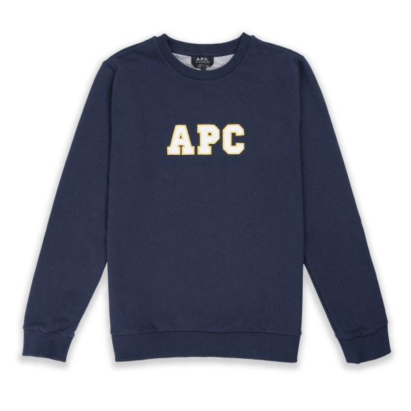 A.P.C. Malcolm Crew Neck Sweatshirt (Marine)