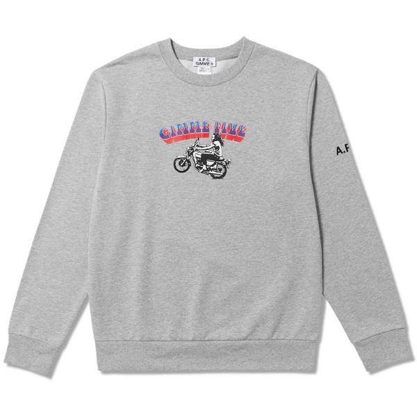 A.P.C. x Gimme Five Mika Crew Neck Sweatshirt 'Interaction Collection' (Heather Grey)