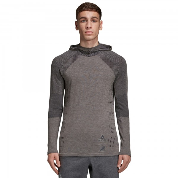 adidas by UNDEFEATED Primeknit Long Sleeve Hooded T-Shirt (Cinder)