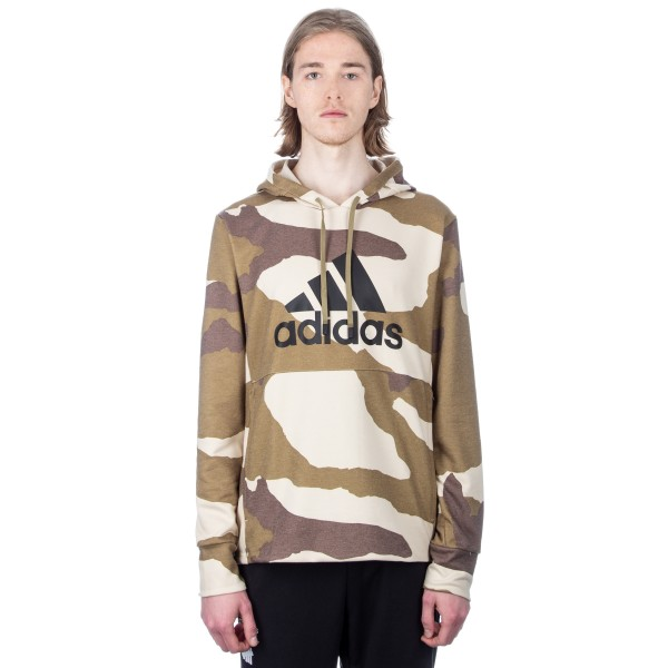 adidas by UNDEFEATED Technical Pullover Hooded Sweatshirt (Dune/Tactile Khaki/Base Khaki)