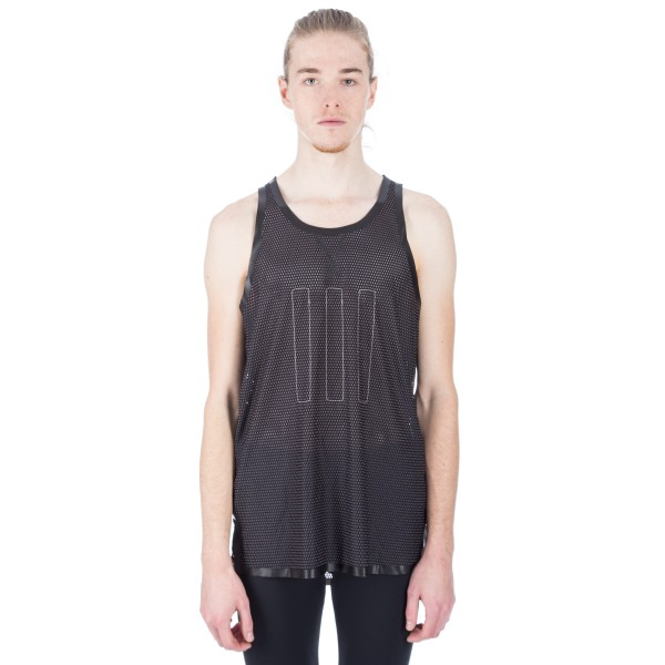 adidas Day One 'Running Pack' Mesh Singlet (Black/Light Brown)