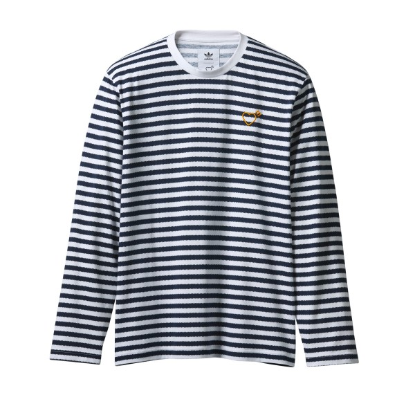 adidas Originals by Human Made Long Sleeve T-Shirt (White/Collegiate Navy)