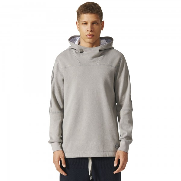 adidas Originals by wings + horns Bonded Linen Pullover Hooded Sweatshirt (Mgh Solid Grey)