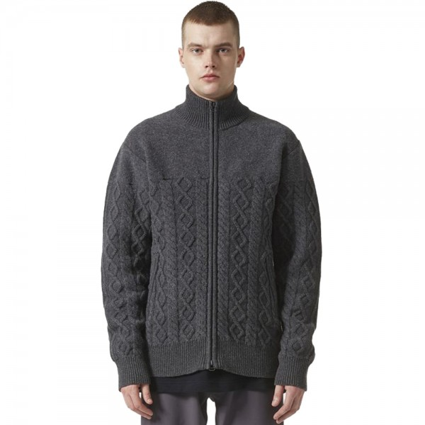 adidas Originals by wings+horns Felted Track Jacket (Dark Grey Heather)