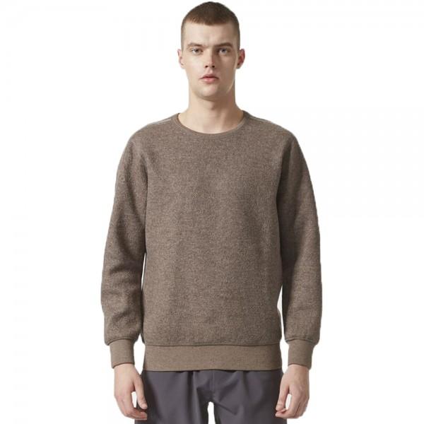 adidas Originals by wings+horns Wool Crew Neck Sweatshirt (Simple Brown)