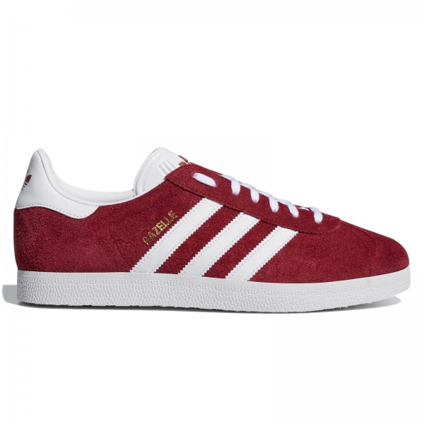 adidas Originals Gazelle (Collegiate Burgundy/Footwear White/Gold Metallic)