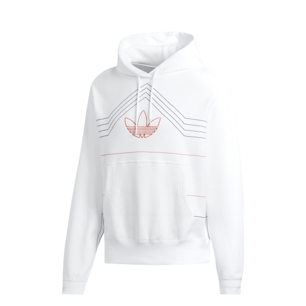 adidas Originals P.E Rivalry Pullover Hooded Sweatshirt (White/Raw Amber)