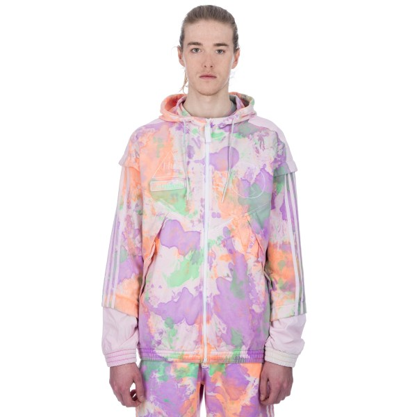 adidas Originals Pharrell Williams Hu Holi 'Powder Dye' Hooded Windbreaker Sweatshirt (Multicolour/White)