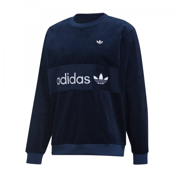 adidas Originals Samstag Corduroy Crew Neck Sweatshirt (Night Indigo)