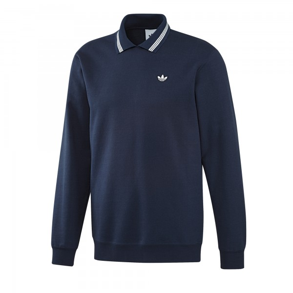 adidas Originals Samstag Polo Sweatshirt (Night Indigo)