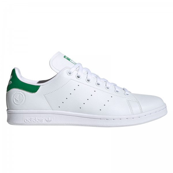 adidas Originals Stan Smith Vegan (Cloud White/Green/Cloud White)