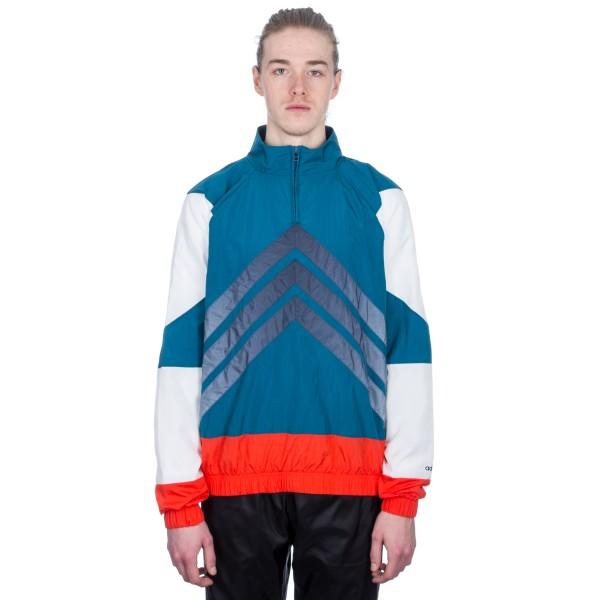 adidas Originals V-Stripes Windbreaker (Blue/Hi-Res Red)