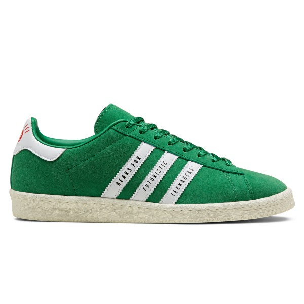 adidas Originals x Human Made Campus (Green/Footwear White/Off White)