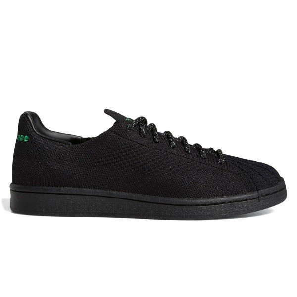 adidas Originals x Pharrell Williams Superstar Primeknit (Core Black/Core Black/Vivid Green)